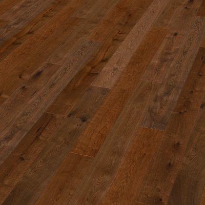Dub parený rustik prírodný voskový olej  – doska